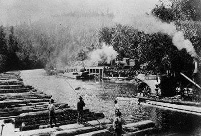 Logging on Big River - 1860