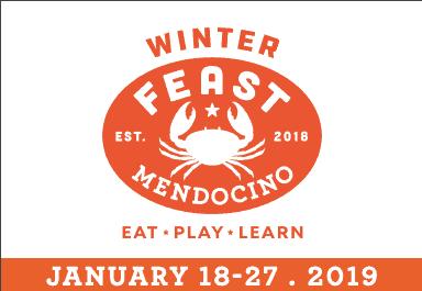 Winter Feast Mendocino logo – Crab
