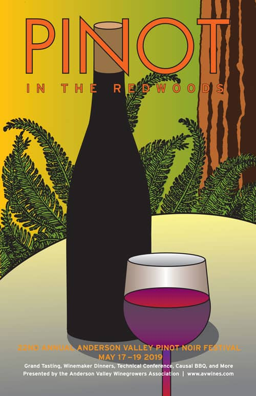 PINOT In the Redwoods Poster – 2019